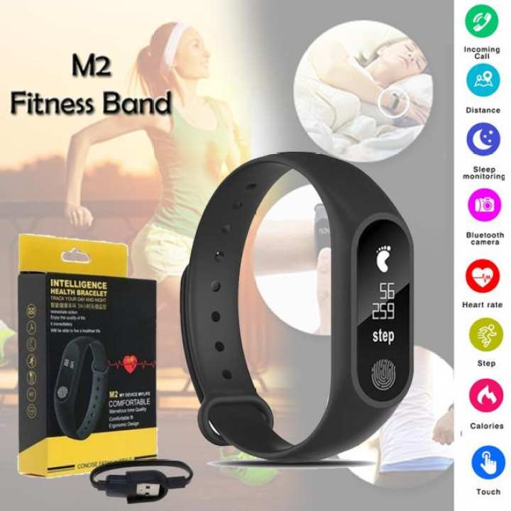 Smart Band M2 Bluetooth Smart Bracelet Heart Rate Monitor Smartband Fitness Sleep Tracker Smart Band Wristband for Android IOS