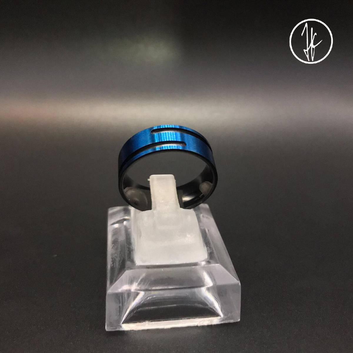 Blue Titanium Trendy Challa Stylish Ring - Unisex