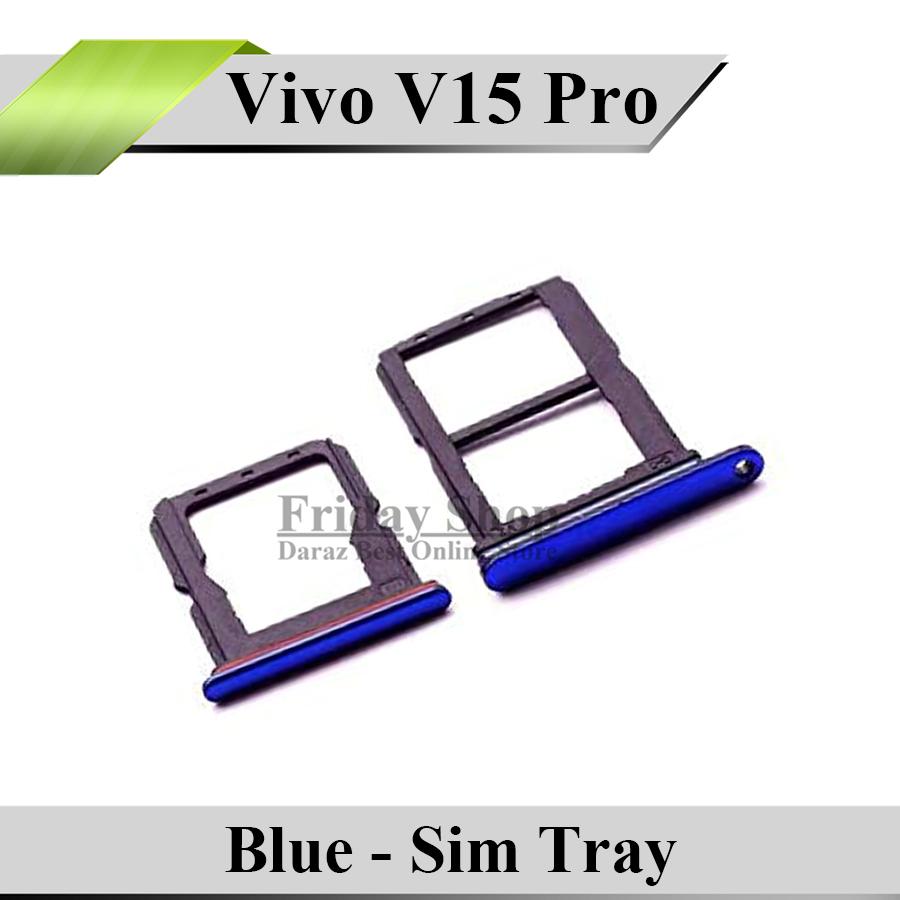 Vivo V15 Pro Tray Sim Jacket Sim Slot Sim Door For Vivo V15 Pro -Blue