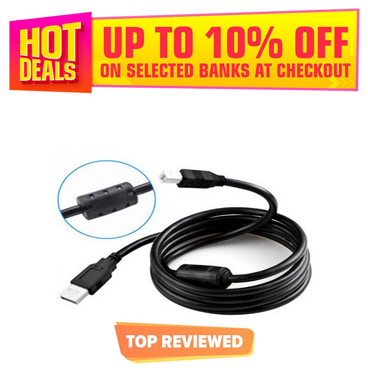 USB Printer Cable - Black - 1.5M