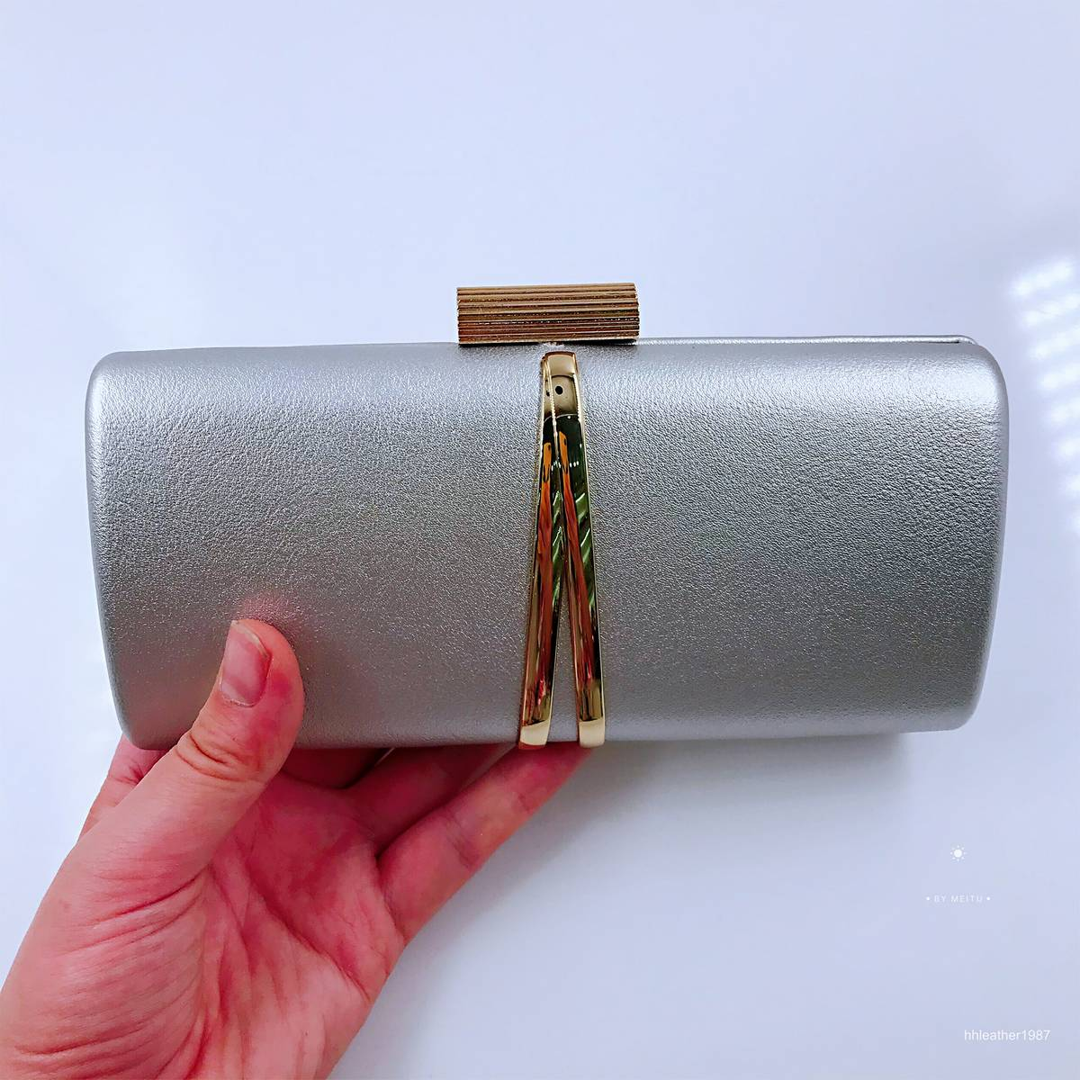 Handmade High Quality  Evening  Clutch Bags for Lady Black-Gray-Rose Gold-Golden