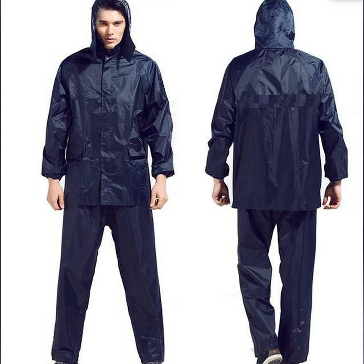 Impermeable Raincoat Women/Men Jacket Pants Set Rain Poncho Thick Rain Gear Motorcycle Rainsuit Plain Unisex Rain Coat & Paint - Green
