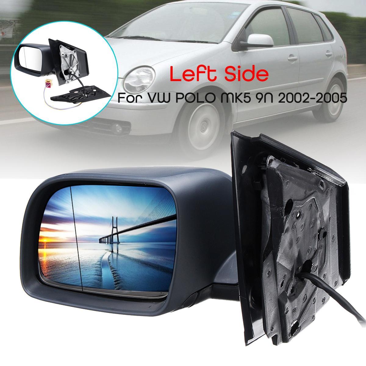 Left Side Volkswagen Polo Door Wing Mirror Replacement Glass 2001-2005