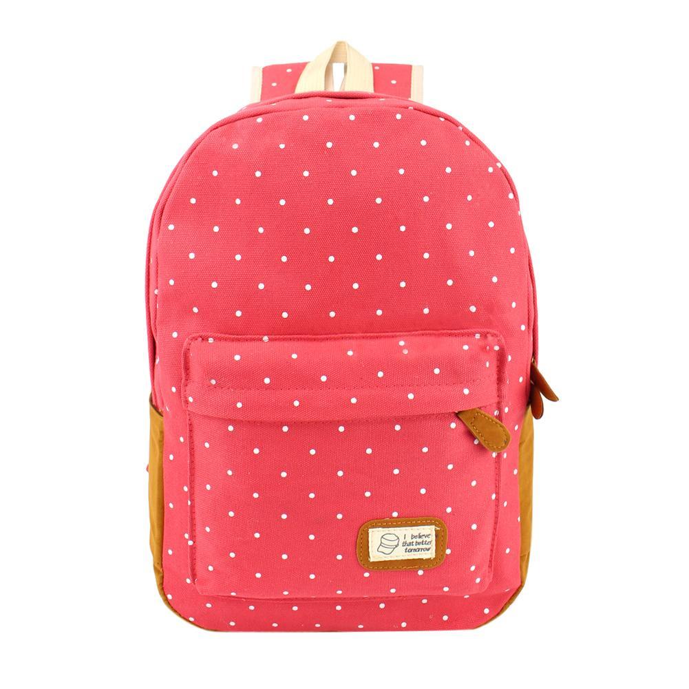 5926e03a4cb7 LIVA GIRL - Women Girl Canvas Shoulder School Bag Backpack Travel Satchel  Rucksack
