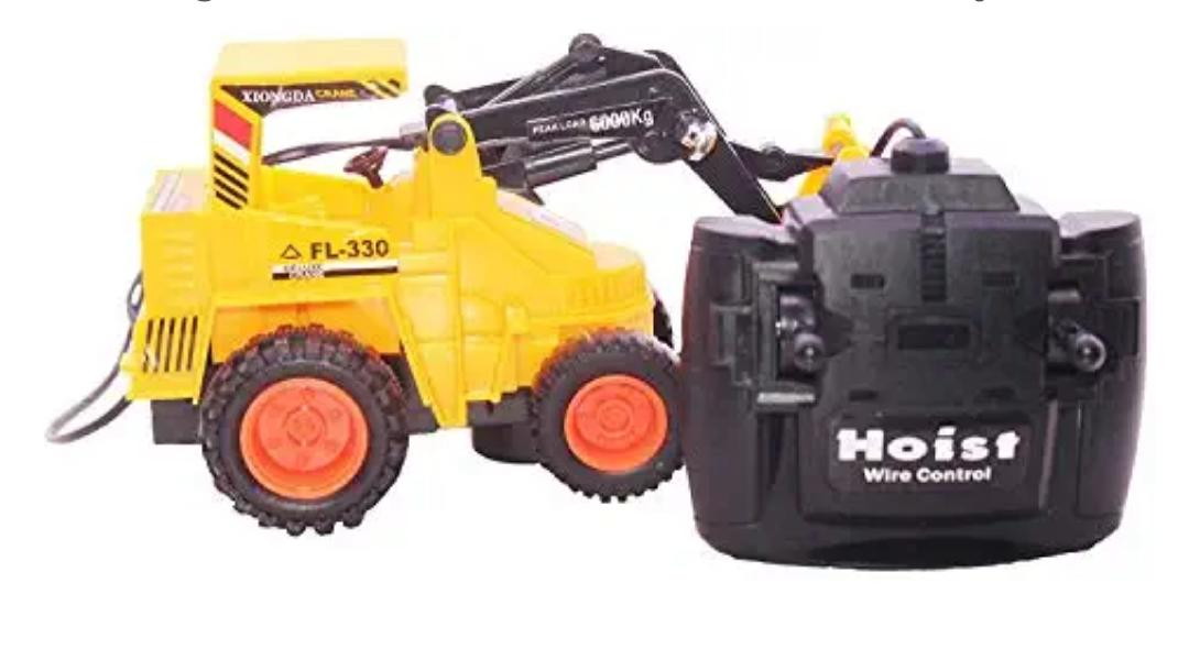 Super Crane Truck Remote Control Toy Hercules Driving Yellow Color Best Gift Toy