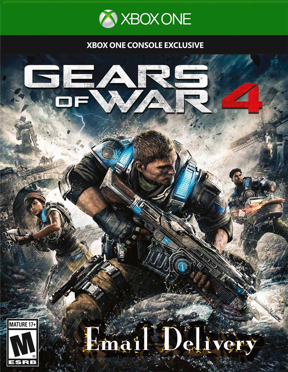 Gears of War 4 Xbox One Game Key Email Delivery