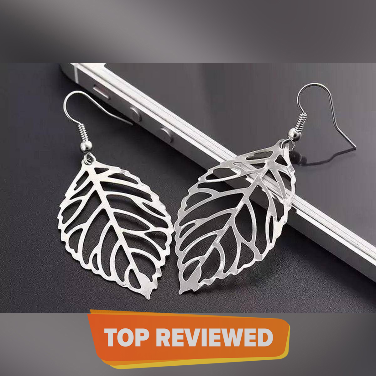 Unique Classy Leaf Light Weight Trendy Fashionable Earrings