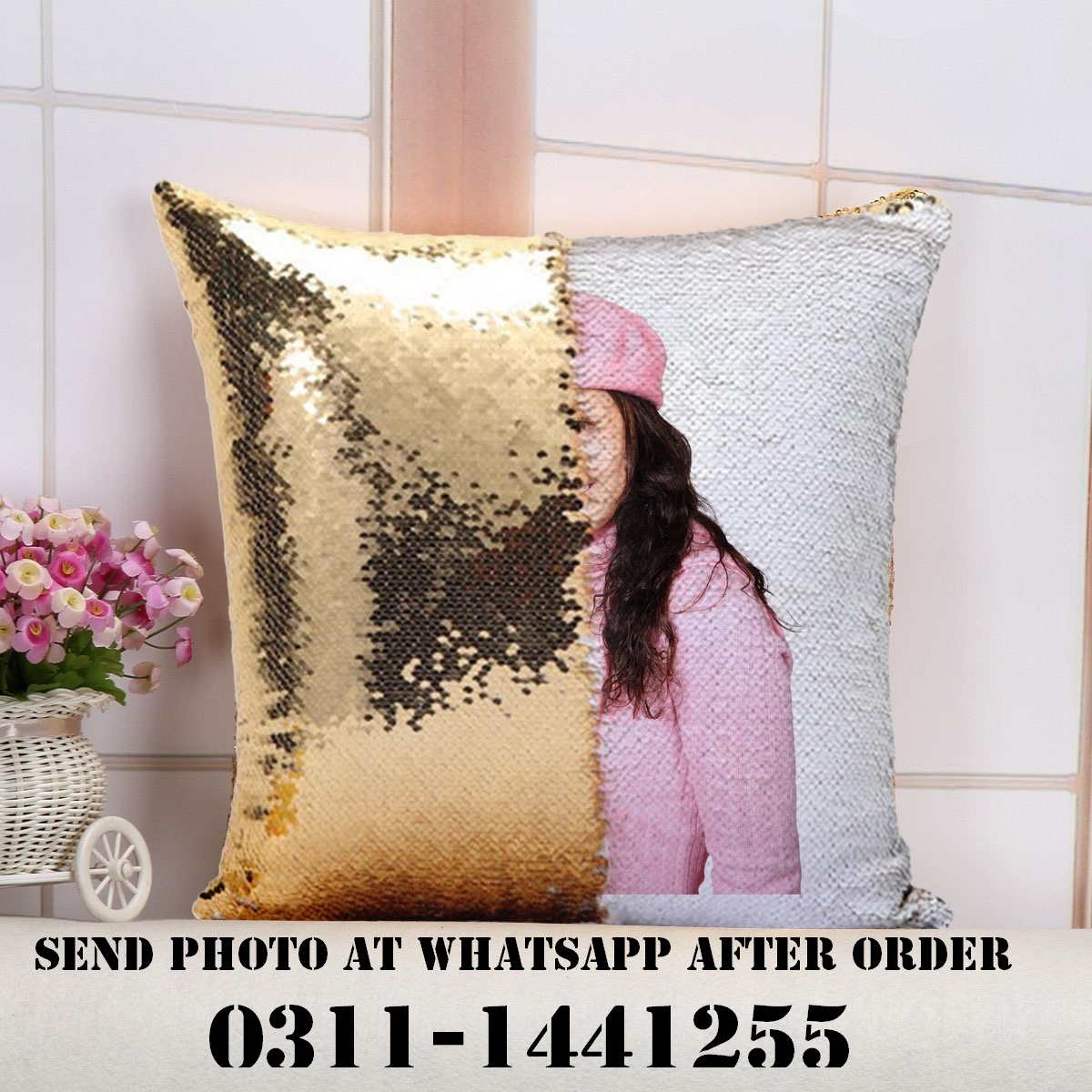 Customized Magic Pillow cover Personalized with your Photo Cushion cover