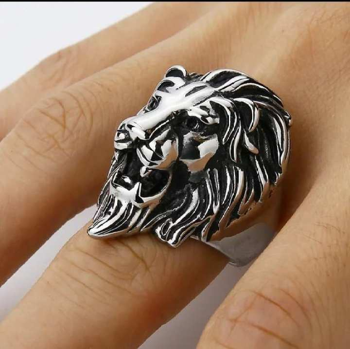 Lion Face Ring For Men.