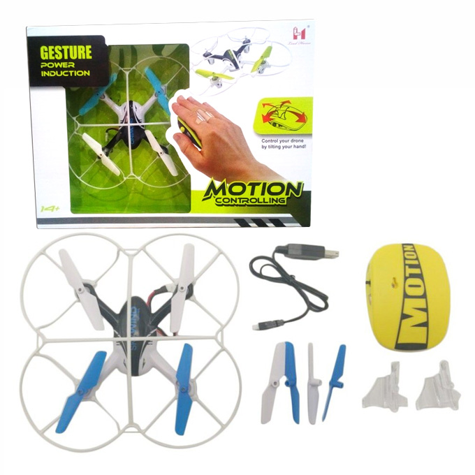 RC Hand Control Quadcopter Drone with Gravity Sensor Obstacle Avoidance