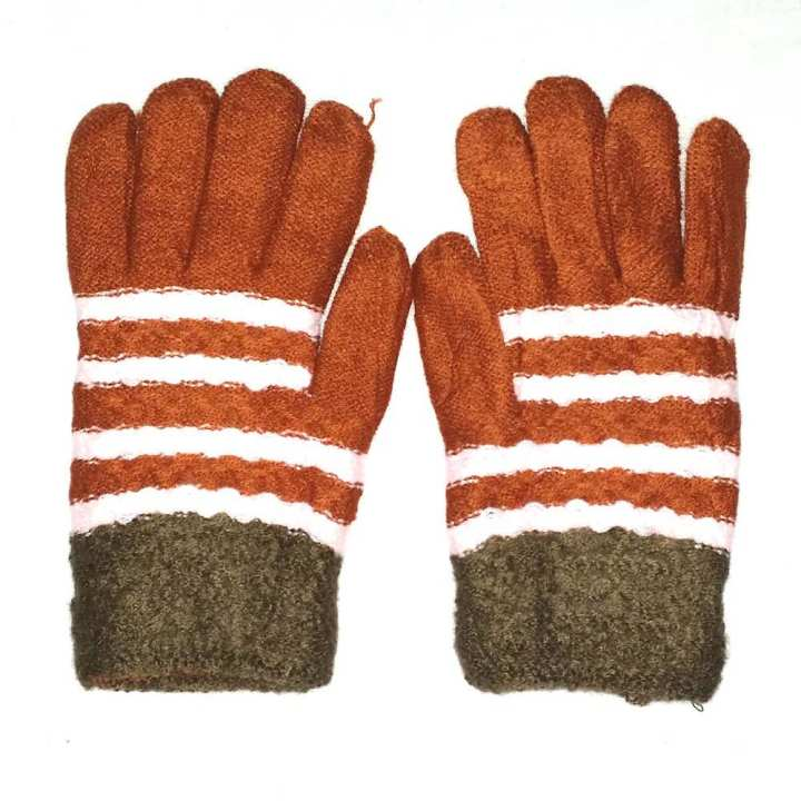 Hi Charlie Lamb Wool Gloves for Women-Multicolor
