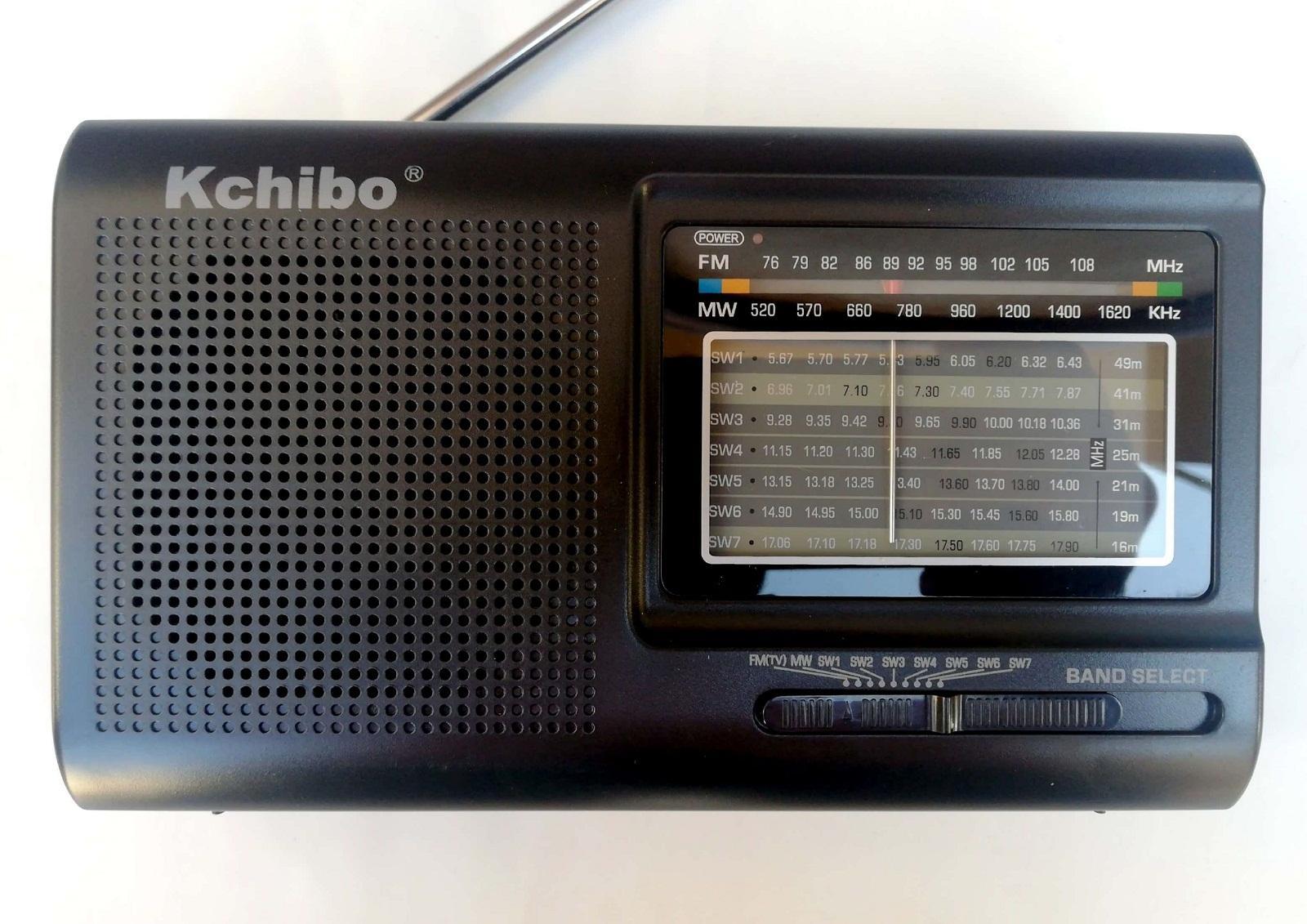 KCHIBO Portable 9 Band World Receiver Radio FM (TV1)/MW/SW1-7