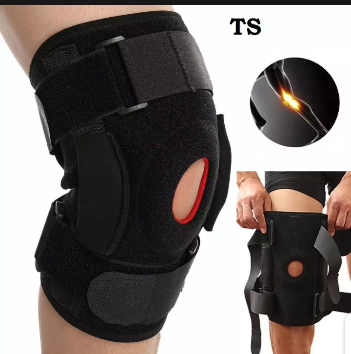 Knee Brace – Hinged, Adjustable Patella Support, Lateral / Medial Ligament (ACL, MCL, LCL), Meniscus, Knee Sprains for Soccer, Basketball, Skiing, Hockey, Running, Water Sports (F)