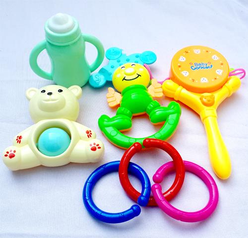 Beautiful 5 Pcs Rattle Set for Kids