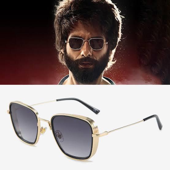Orignal Metal  Sunglasses Brand Designer Sun Glasses Kabir Singh Square Sunglasses for Men and Girls