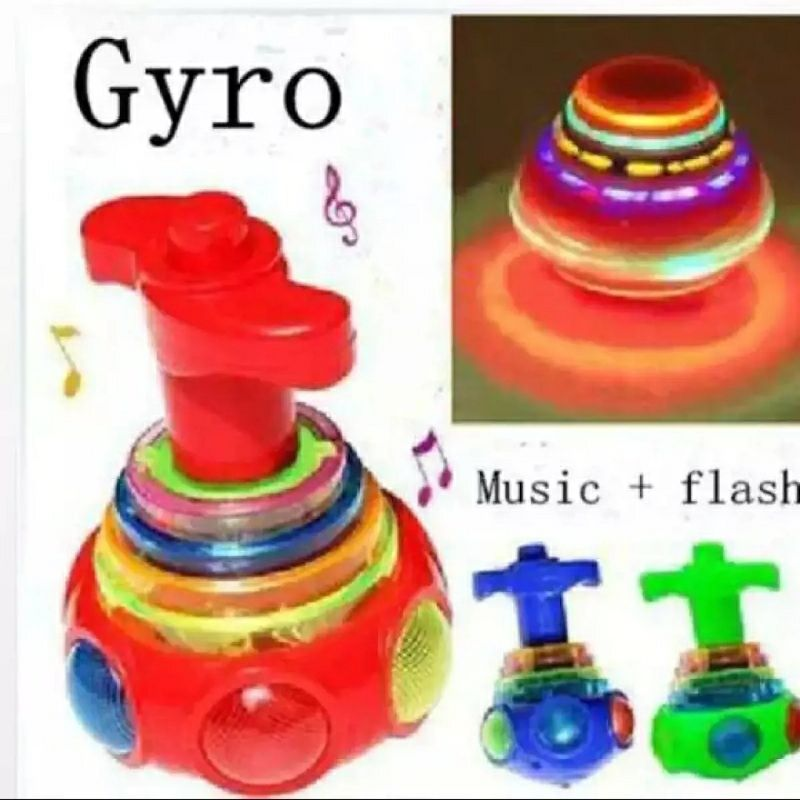 Spinning top set UFO with 3d lights and music function toy for kids