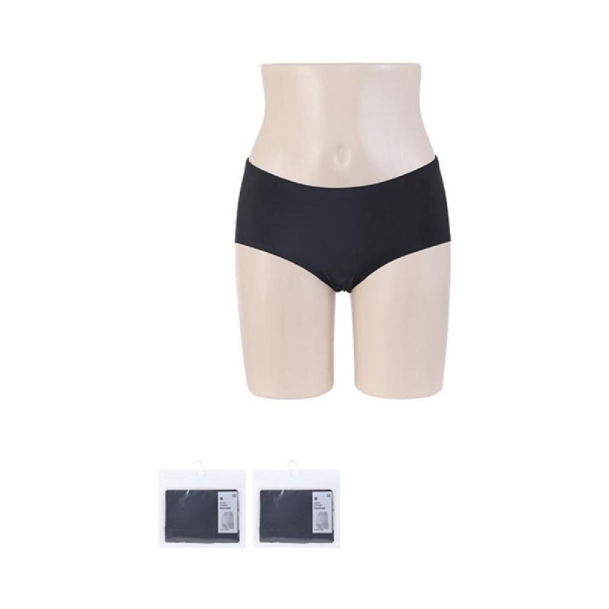 Comfortable Seamless Briefs (L, Black)