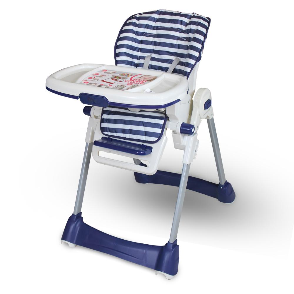 Tinnies Baby Adjustable High Chair (Blue Stripes) -BG-89