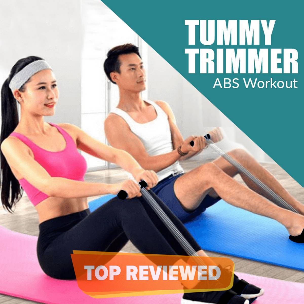 Tummy Trimmer for Home Gym  Belly Trimmer  Yoga Training Accessories  Single and Double Spring