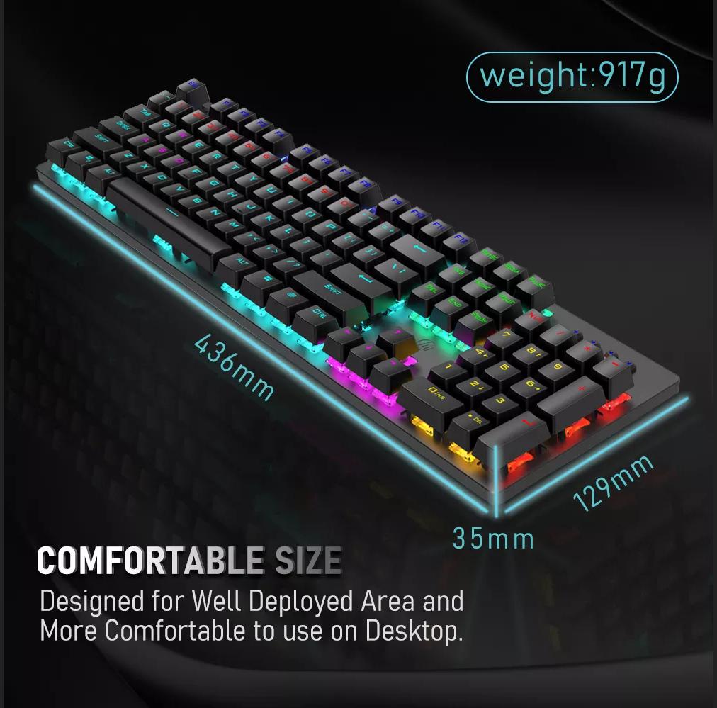 Gk-100f Gaming Mechanical Keyboard