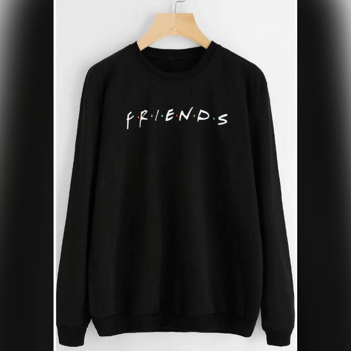 FRIENDS Printed Sweatshirt Black  For Women