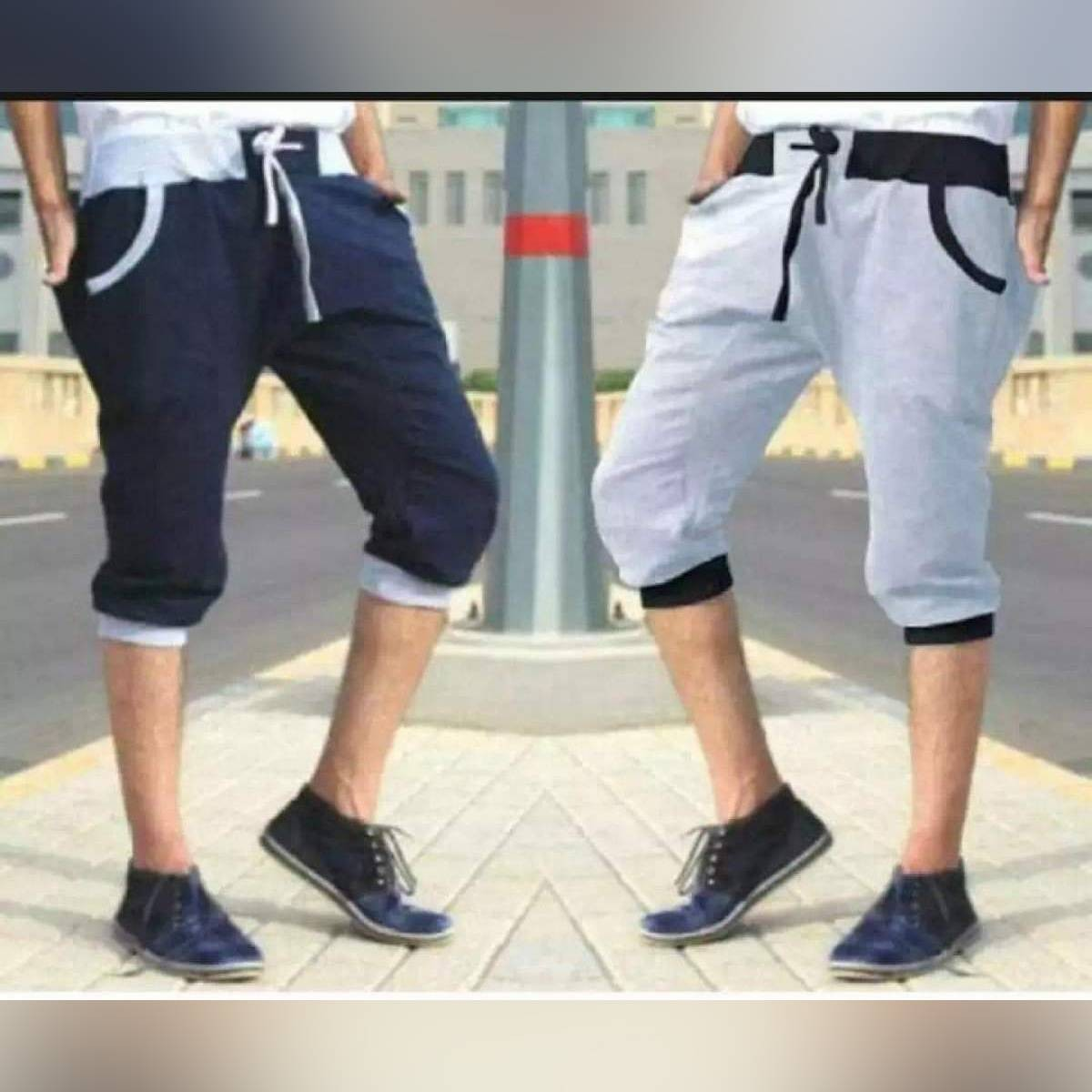Pack of 2 - Three Quarter Jersey Shorts For Him