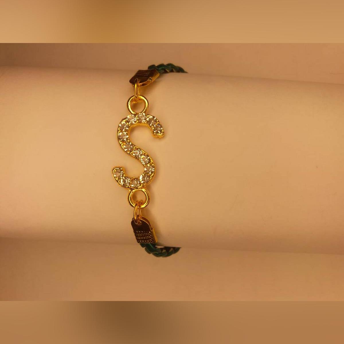Classy Gold S Design Zircon Bracelet For Girls, Women