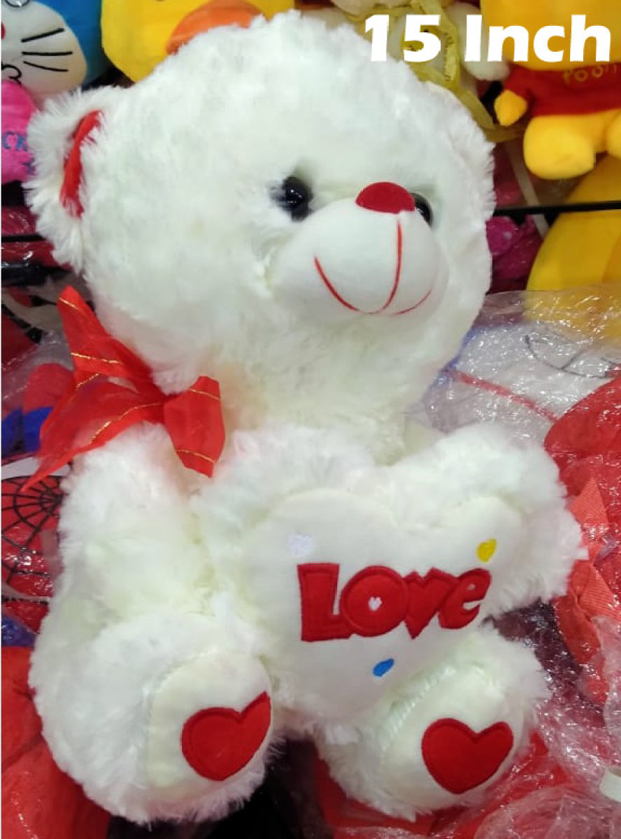 High Imported Quality 39cm Luxury Teddy Bear Plush Toys Stuffed Plush Animals Bear Doll Birthday with Heart Valentines Gift for Girl Love Gift for Children