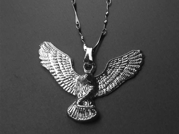 Eagle Locket Pure Stainless Silver with chain For Girls & Boys
