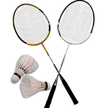 2 Badminton Rackets For adults with 2 nylon speed Shuttles - Japanese