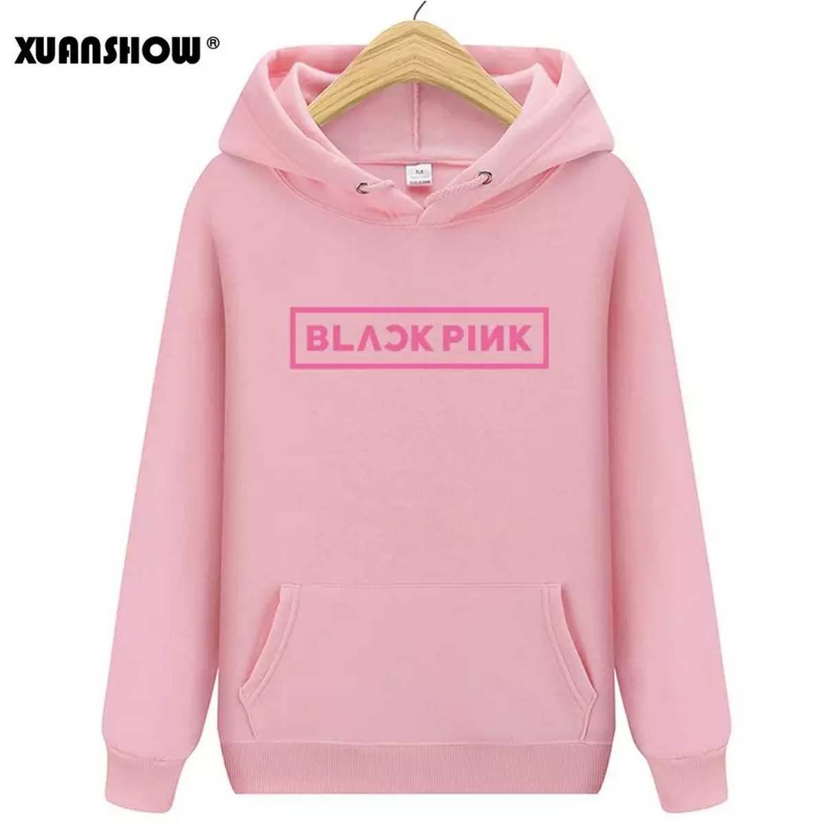 Jack Beos Blackpink Black Fleece Hoodie For Women  92720020