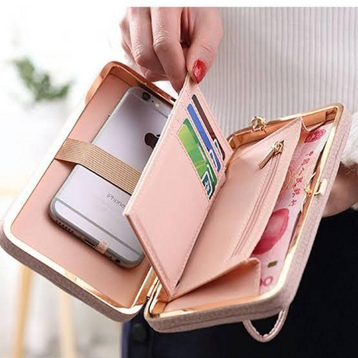 2020 Purse wallet female big capacity brand card holders cellphone pocket gifts for women money bag clutch wristlet bags