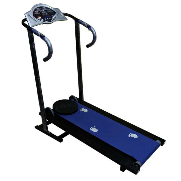 Manual Treadmill With Twister With Digital Meter - Multicolour
