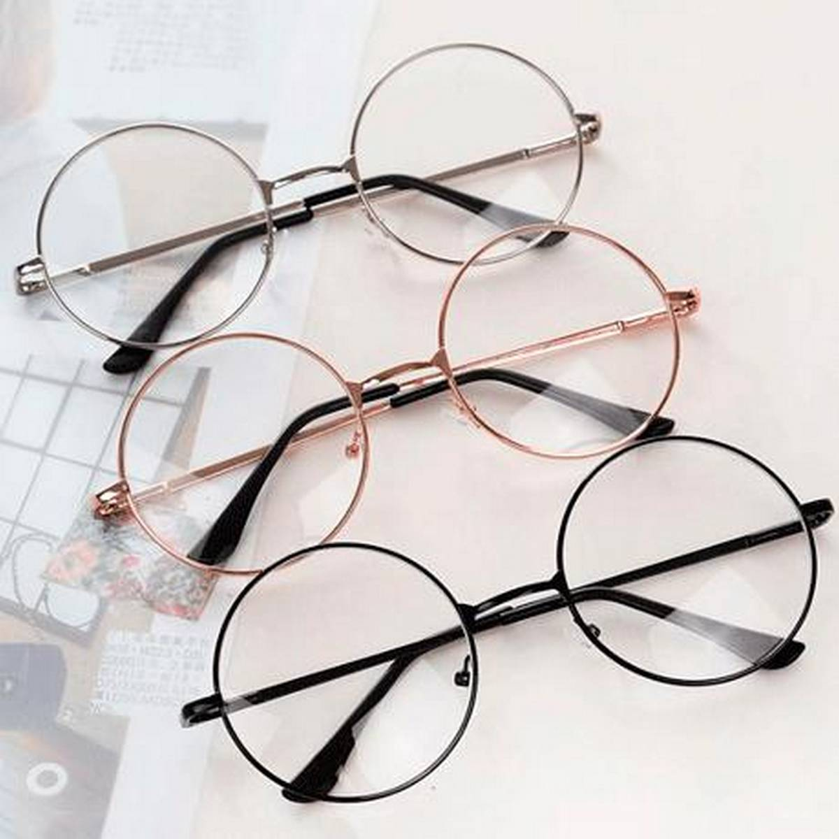 Round Harry potter Style Transparent Glasses For Girls