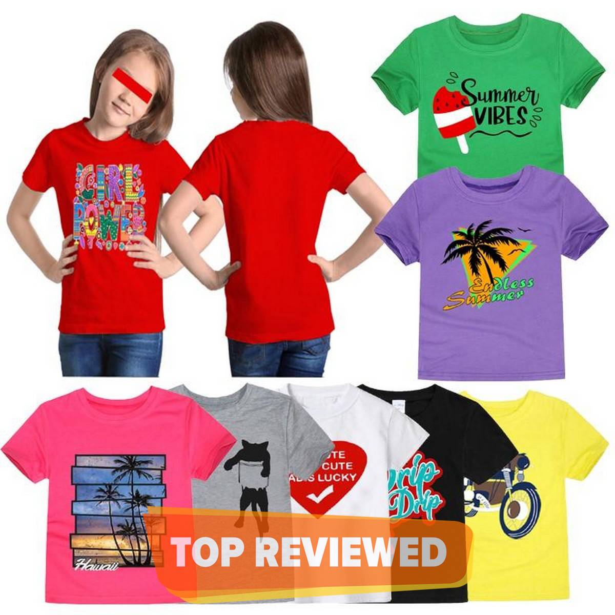 Bindas Collection 3 pcs Random Printed T-shirts For Girls (Clearance Sale)