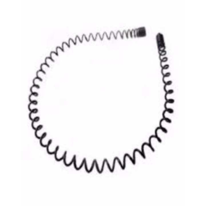 Metal Spring Hairband for Men & Women - Black