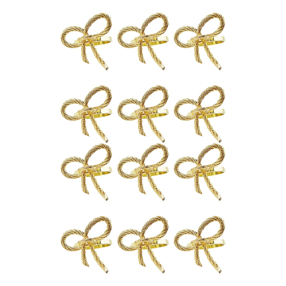 12pcs Lot Simple Golden Napkin Ring Butterfly Bow Tie Napkin Buckle Hotel Restaurant Mouth Cloth Ring Metal Napkin Ring Buy Online At Best Prices In Pakistan Daraz Pk