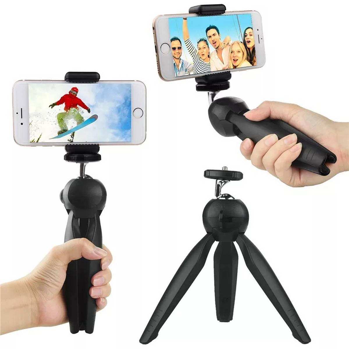 Mini Tripod Stand Mobile Mount Clip YT-228 for Digital Camera DSLR iPhone Android Smartphones Selfie Sticks Universal Mobile Holder