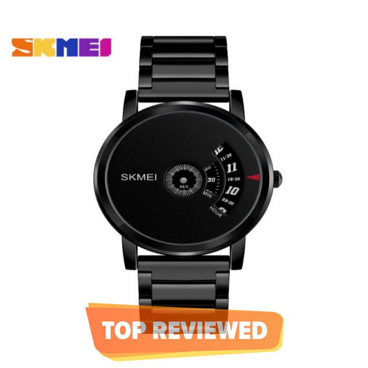 Skmei Dg1260 Stainless Steel Quartz Watch For Men - Black