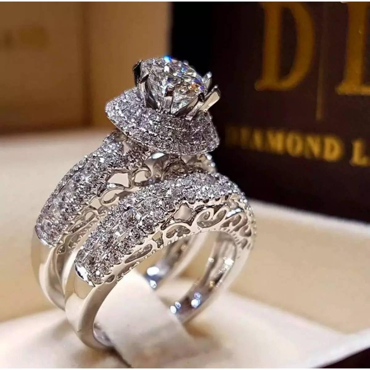 Wedding Engagment Ring SeT For Girls
