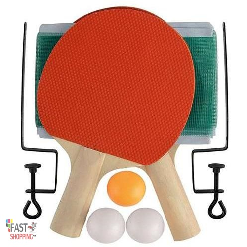 Table Tennis Racket Set With Net And Three Balls For Children, Kids