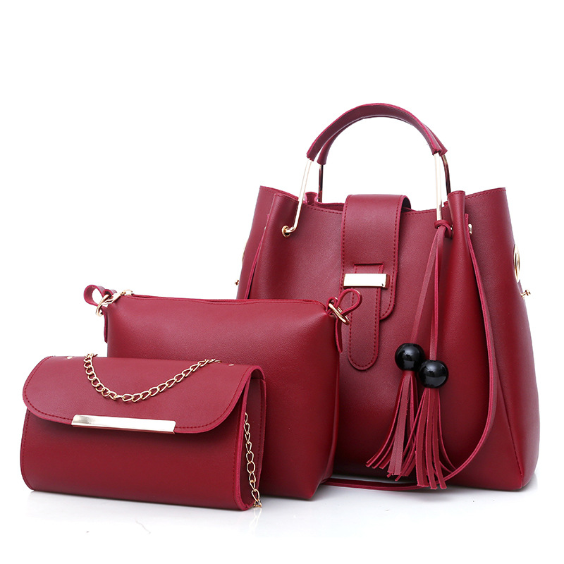 3 Pcs PU Leather Ladies Hand Bags Set Fashionable New Style