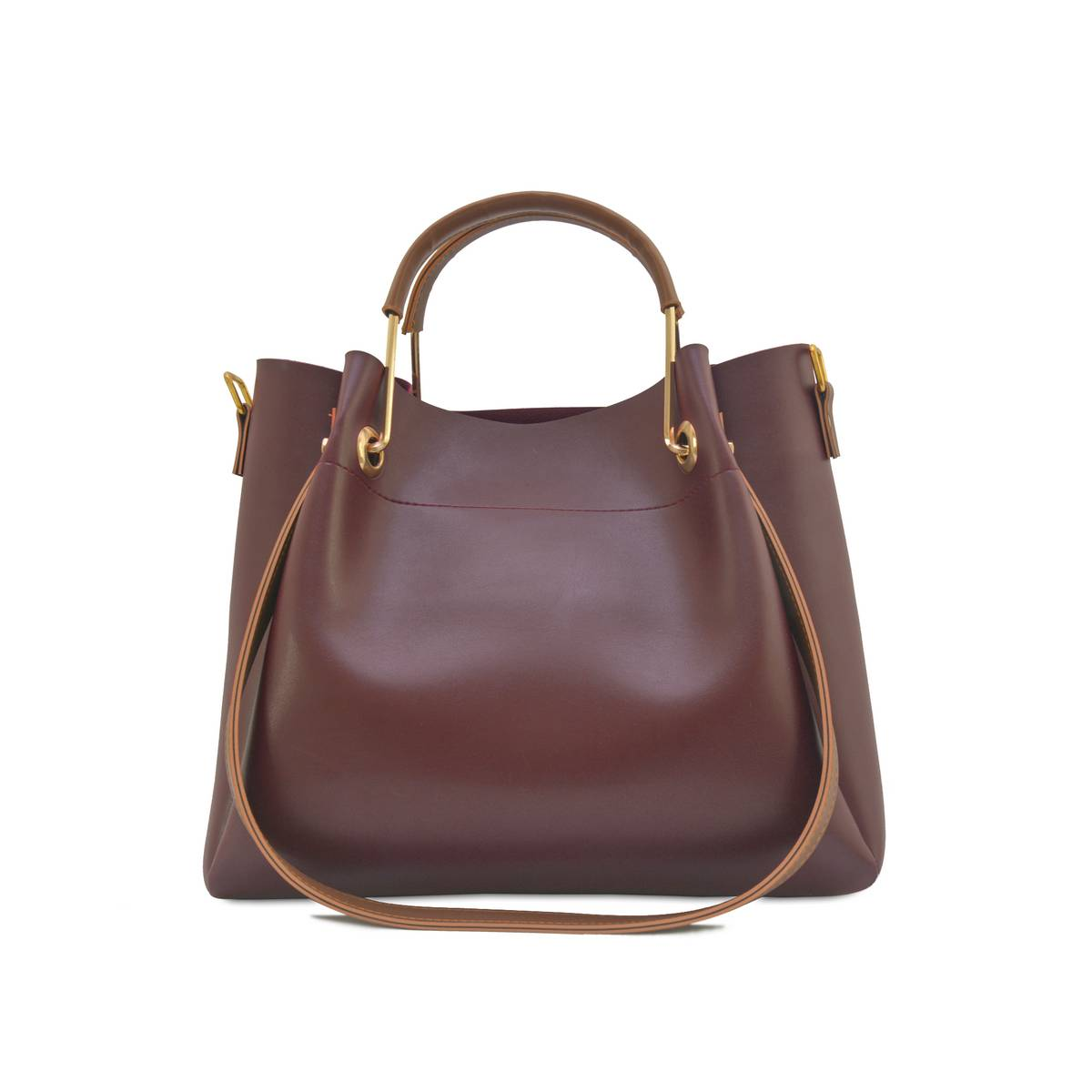 Astore Maroon Adjustable Long Strap Emerald Faux Vegan Leather Handbags and Shoulderbag