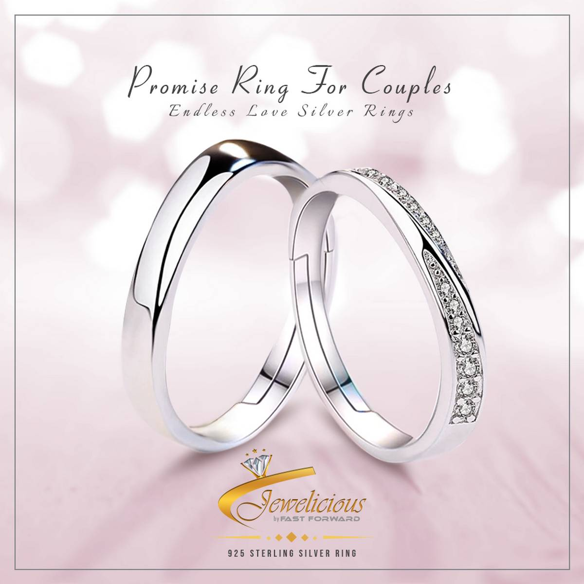 925 Sterling Silver New Jewelry Fashion Woman Opening Ring Anniversary Wedding Anniversary Wedding Engagement Couple Ring