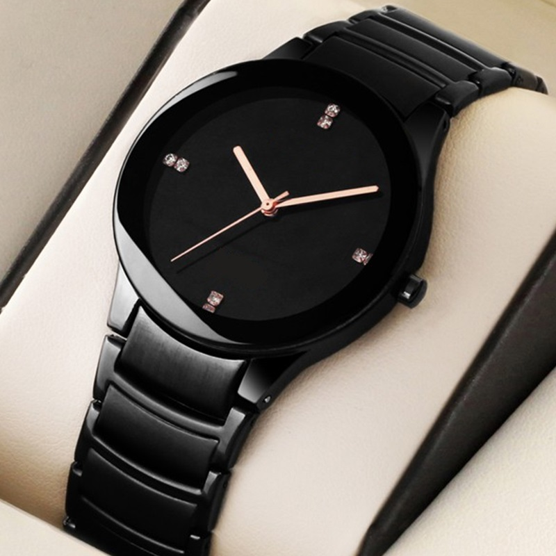 High Quality Stylish Casual Stainless Steel Chain Wrist Watch for Men - Waterproof - Free Box