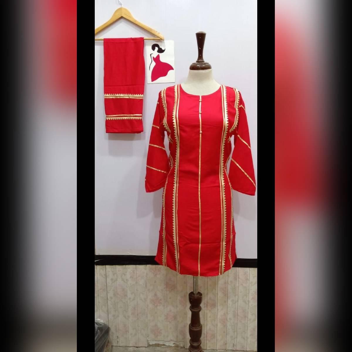 Beautifull Stiched Kurta plus trouser (2pc) for women/girl