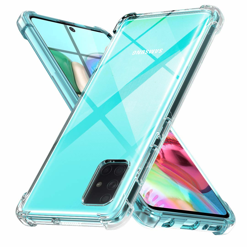 Samsung Transparent Cover Case - Silicon - Shockproof - 1.5mm thickness for A11, A21s, A31, A51, A71 (2020)