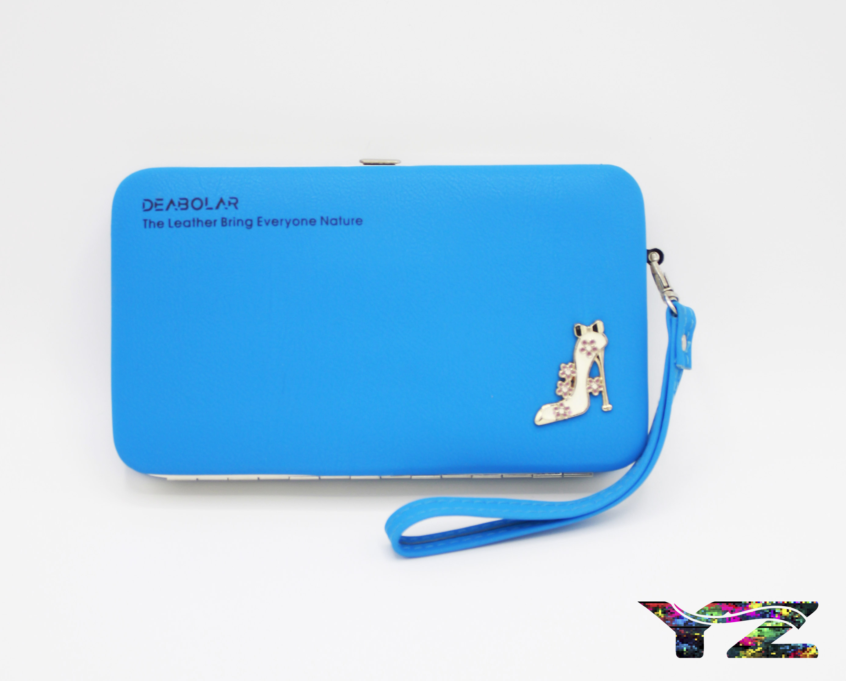 Fancy hand clutch for girls and mobile wallet for women Steal Frame