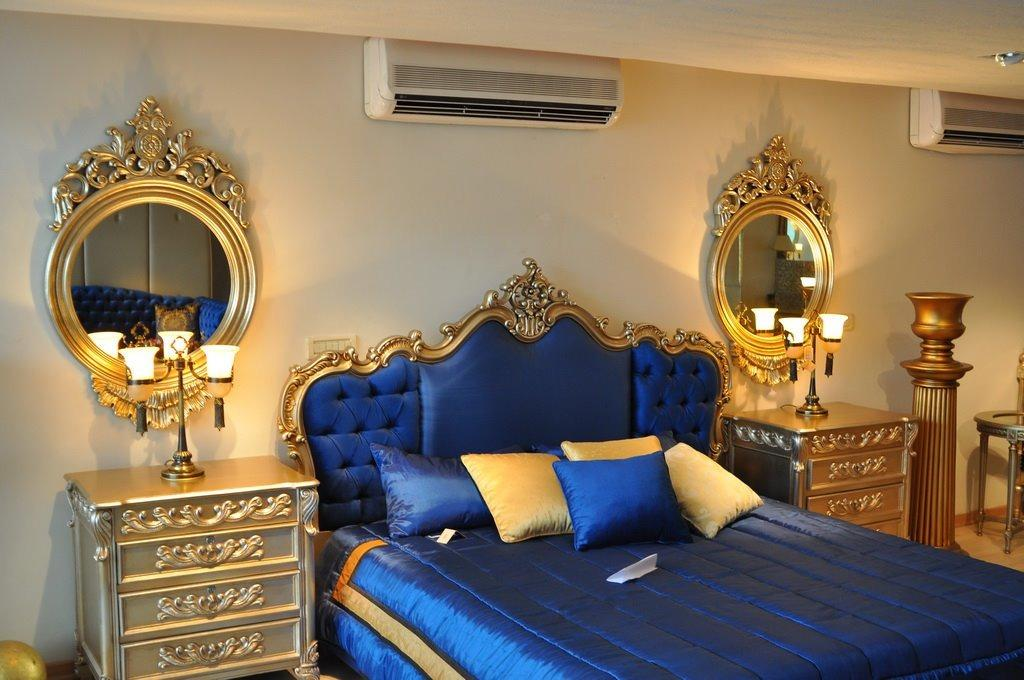 Royal Blue Quilted Sheesham Wood Bed Buy Online At Best Prices In Pakistan Daraz Pk