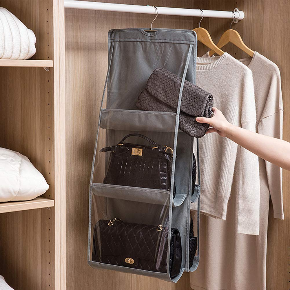 1PC Hanging Handbag Organizer Dust-proof Storage Holder Bag Wardrobe Closet  Purse Clutch With 6 Larger Pockets : Buy Online at Best Prices in Pakistan  | Daraz.pk